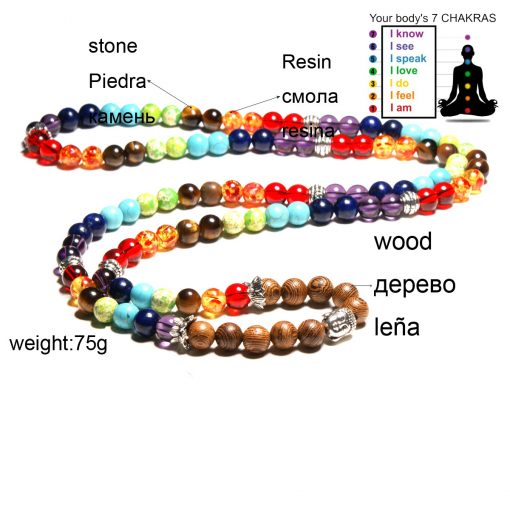 7Chakra Energy Multilayer Yoga Men and Women Bracelet Wholesale XH-269