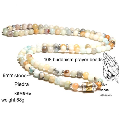 108PCS Amazon stone pendant multilayer bracelet necklace XH-213