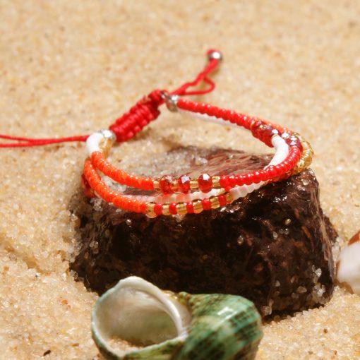 Bestselling Bohemian ethnic style handmade beads crystal lucky friendship bracelet XH-267