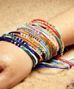 Bestselling Bohemian ethnic style handmade beads crystal lucky friendship bracelet XH-267
