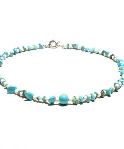European and American popular ladies' bohemian style short clavicle broken turquoise summer necklace jewelry wholesale XH-219