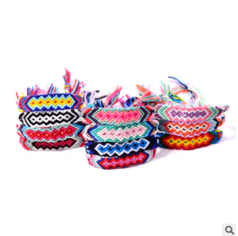 European and American short-selling colorful Nepalese ethnic style Geneva hand-woven friendship hand rope mixed batch XH-262