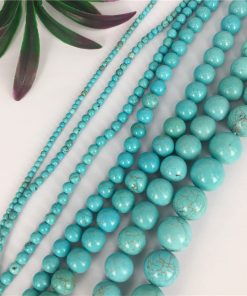 Wholesale turquoise optimization white pine round beads DIY beads bracelet necklace jewelry accessories manufacturers GQZB-001