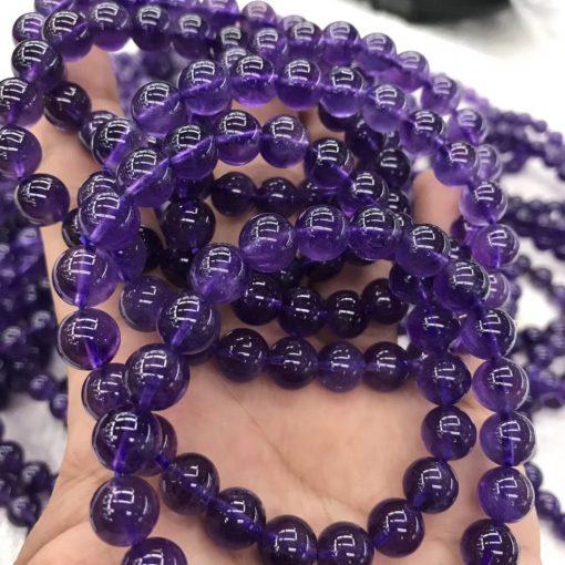 Wholesale ladies amethyst single loop elastic bracelet MY-011