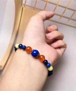 Factory direct supply of natural lapis lazuli bracelet NBC-002