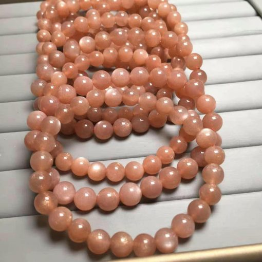 Factory direct supply natural sun stone single circle round bead bracelet