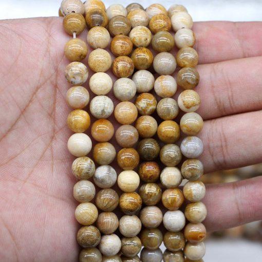Wholesale natural stone chrysanthemum stone elastic bracelet for men and women