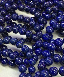 Natural Lapis Lazuli Single Circle Round Bead Bracelet Simple Retro Men's and Women's Bracelet NBC-009